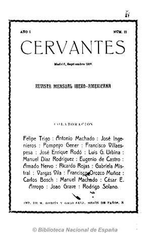 Cervantes (Madrid. 1916).